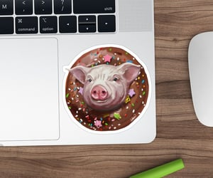 pigs, sticker, and stickers image