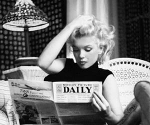black and white, Marilyn Monroe, and retro image