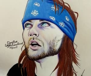 axl rose, color, and dead image