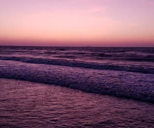 beach, break, and pink image