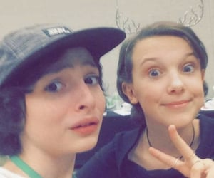 fillie, finn wolfhard, and millie bobby brown image