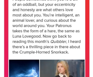 expecto patronum, harry potter, and luna lovegood image