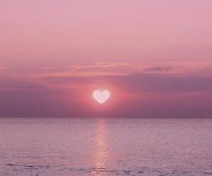 sunset, sun, and beach image