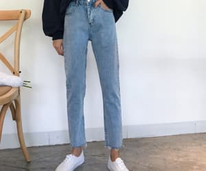 jeans, tomscloth, and straight image