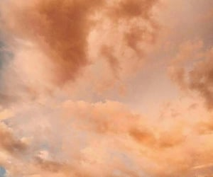 aesthetic, clouds, and peach image