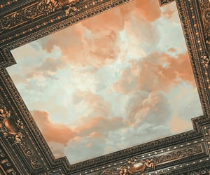 art, clouds, and sky image