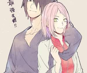 naruto, sasuke, and haruno image