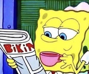 meme, spongebob, and tea image