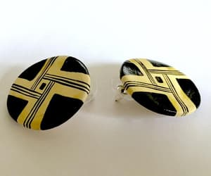 etsy, geometric design, and pierced earrings image