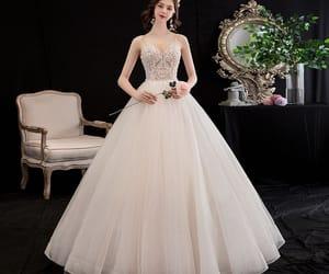 beading, bride, and affordable wedding dress image