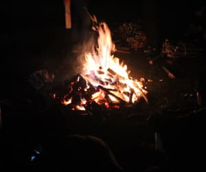 bonfire, camping, and chill image