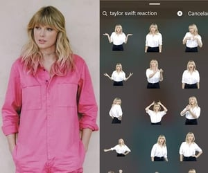 girl, stickers, and Taylor Swift image