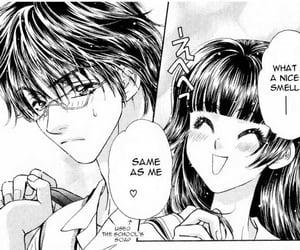 anime girl, glasses, and manga image