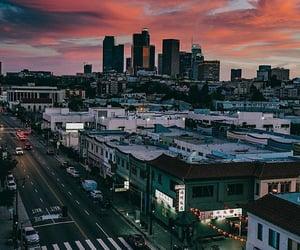 california, sky, and city image