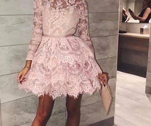 cocktail dress, pink prom dress, and cocktail party dress image