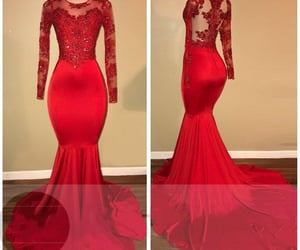 evening gowns, follow me, and red evening dress image