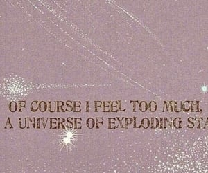 exploding, stars, and quote image