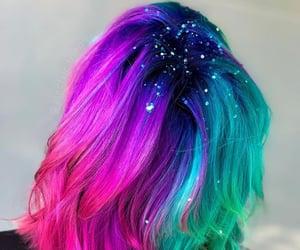 blue hair, colored hair, and green hair image