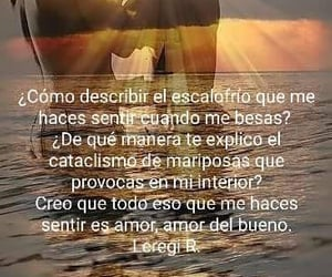 Besos, pensamiento, and amor image