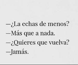 frases, volver, and jamas image