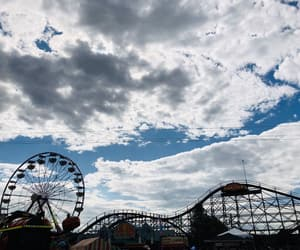 amusement, clouds, and fair image