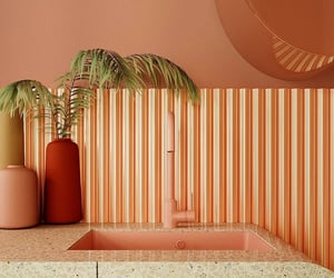 interiors, stripes, and peach image