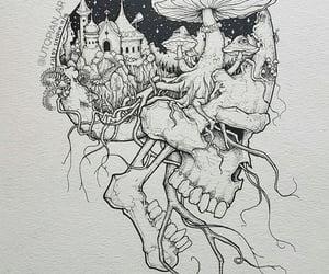 dark, skull, and dots image