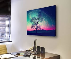 earth space, canvas wall art, and andromeda galaxy image