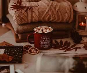 autumn, fall, and hot chocolate image