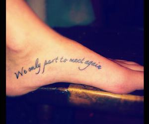 foot, quote, and tattoo image
