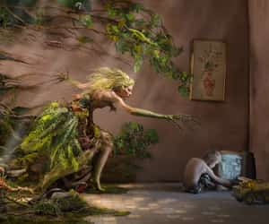dryad, surreal, and youth image