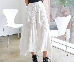 asian fashion, korean fashion, and white skirt image