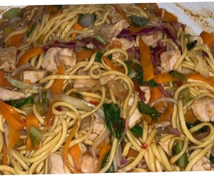 Chicken, sauces, and noodles image