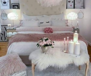 bed, decor, and bedroom image
