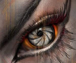 eye, fantasy, and makeup image