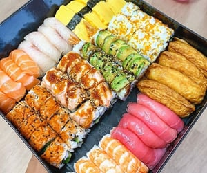 delicious, snack, and sushi image