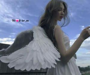 angel white, wings fantasy, and حب عشق الم فراق image
