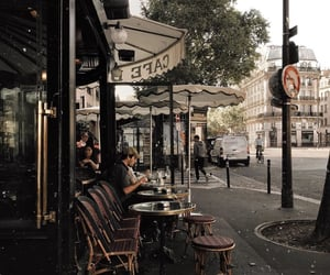 cafe de flore, cities, and coffee image