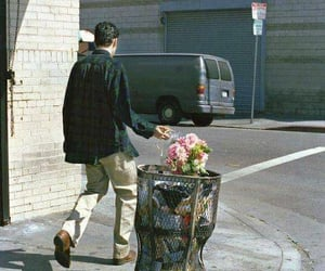 flowers, sad, and grunge image