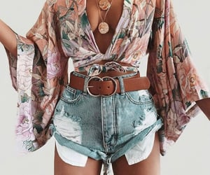 clothes, denim shorts, and fashion image