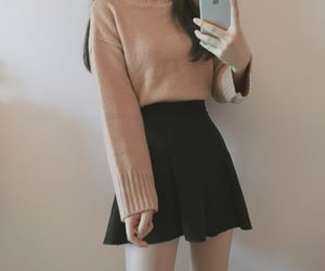 black, fashion, and pullover image