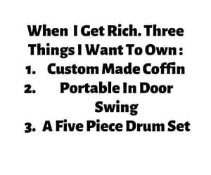 coffin, drum, and karaoke image