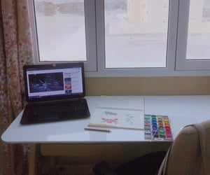 colors, desk, and youtube image