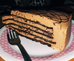 cake, nutella, and oreos image