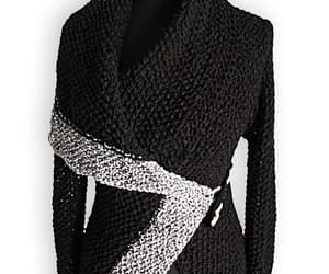 black sweater, large collar, and small sweater image