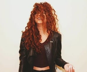 hair, curly hair, and smile image