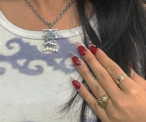 inspo, jewels, and nail art image