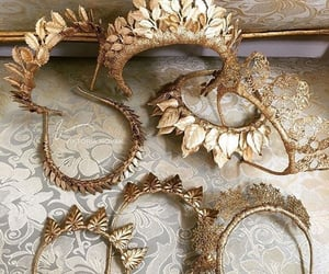 crown, gold, and jewelry image