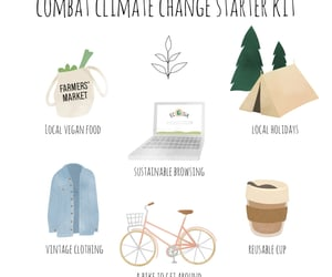 Action, biking, and climate change image