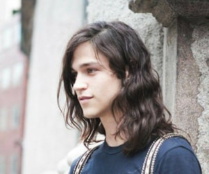 black hair, boy, and long hair image